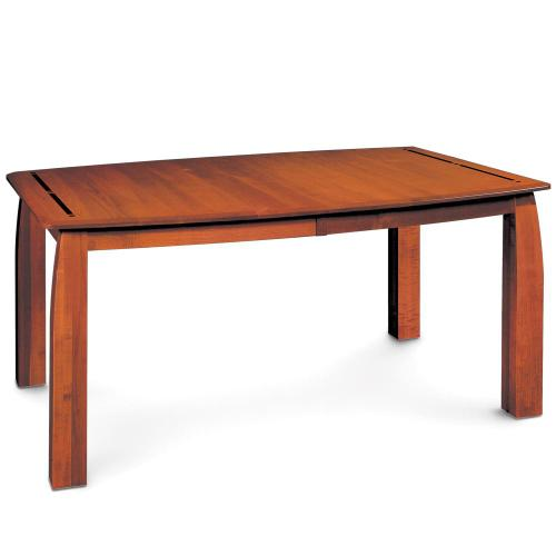 """Simply Amish - Aspen Leg Table with Inlay, 38'w x 48'l (Max 2 Leaves) / Two 12"""" Leaves"""