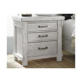 Brashland Three Drawer Night Stand White
