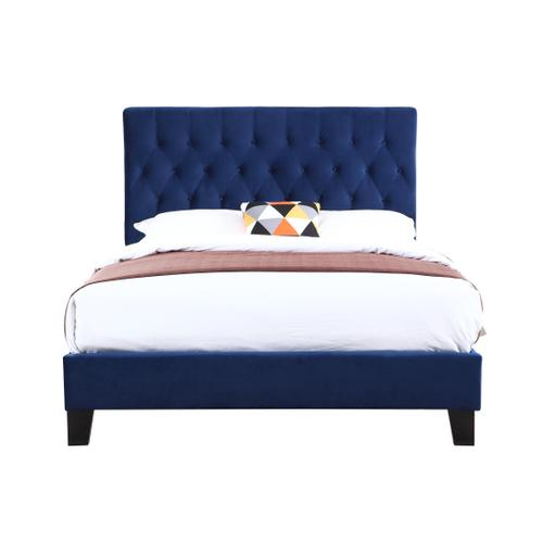 Amelia Cal King Upholstered Bed, Navy B128-13hbfbr-14