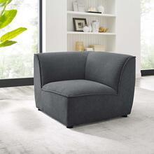Comprise Corner Sectional Sofa Chair in Charcoal