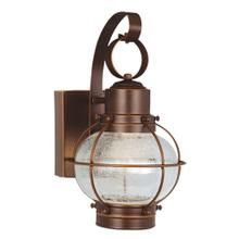 "Chatham LED 6-1/2"" Outdoor Wall Light Gold Stone"