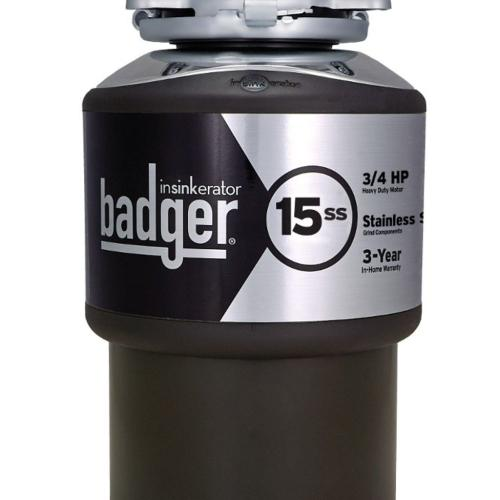 Badger 15SS Garbage Disposal, 3/4 HP