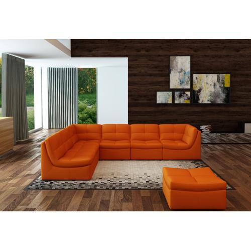 Divani Casa 207 Modern Orange Bonded Leather Sectional Sofa