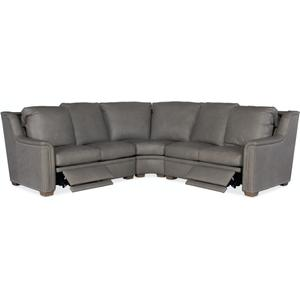 Bradington Young Sectionals 204 Raiden Reclining Sectional with One-Piece Back