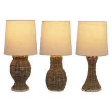 Woven Jute Accent Lamp. 40W Max. (3 pc. ppk.)