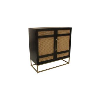 Port Royal 2 Door Wood and Metal Cabinet