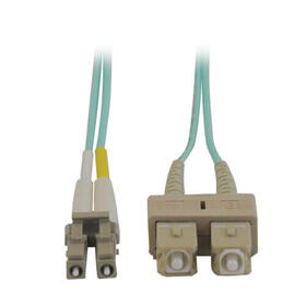 10Gb Duplex Multimode 50/125 OM3 LSZH Fiber Patch Cable (LC/SC) - Aqua, 2M (6 ft.)