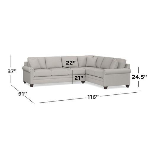 Bassett Furniture - Carolina Panel Arm L-Shaped Sectional