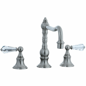 Highlands - 3-Hole Widespread Pillar Kitchen Faucet Without Side Spray - Polished Chrome
