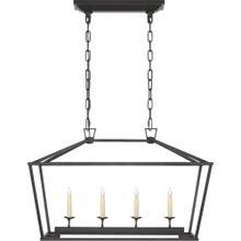 Visual Comfort CHC2168AI E. F. Chapman Darlana 4 Light 30 inch Aged Iron Linear Lantern Ceiling Light, Small