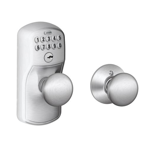 Schlage - Plymouth Style Keypad Plymouth Knob with Auto Lock