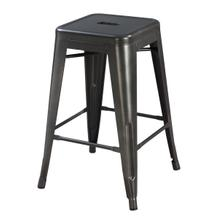 "Dakota II 24"" Bar Stool, Gunmetal Gray D133-24"
