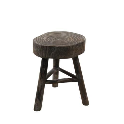 "Sagebrook Home - Wooden 15.75"" Stool, Gray"