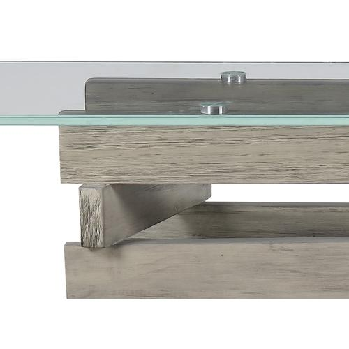 Emerald Home Jenga Sofa Table Driftwood T833-02top
