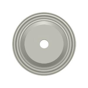 """Deltana - Base Plate for Knobs, 1-1/2"""" Diam. - Brushed Nickel"""