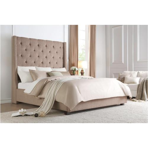 Full Bed Platform Bed with Storage Footboard
