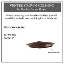 View Product - ZLINE Vented Crown Molding Profile 6 for Wall Mount Range Hood (CM6V-8667C)