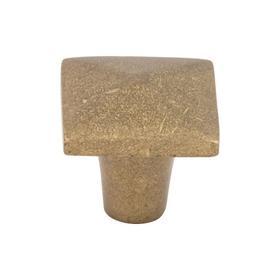 Aspen Square Knob 1 1/4 Inch Light Bronze