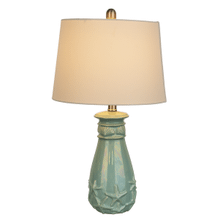 Blue Luster Shell Table Lamp. 60W Max