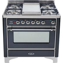 Matte Graphite with Chrome trim - Majestic 36-inch Range with Griddle DISPLAY CLEARANCE