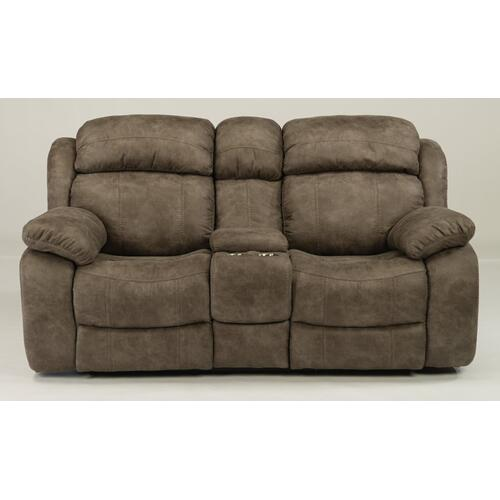 Como Power Reclining Loveseat with Console & Power Headrests