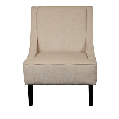 Upholstered Swoop Arm Accent Chair
