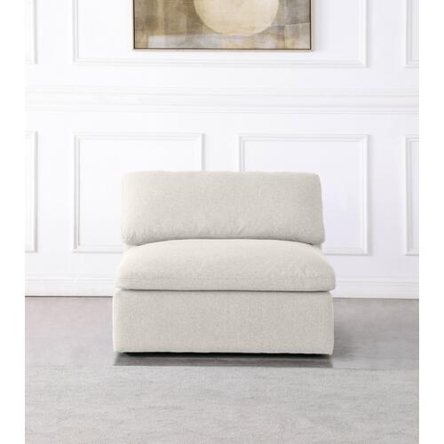 """Serene Linen Deluxe Cloud Modular Down Filled Overstuffed Armless Chair - 39"""" W x 40"""" D x 32"""" H"""