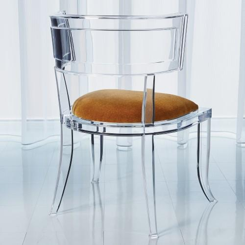 Klismos Acrylic Chair-Brown Sugar