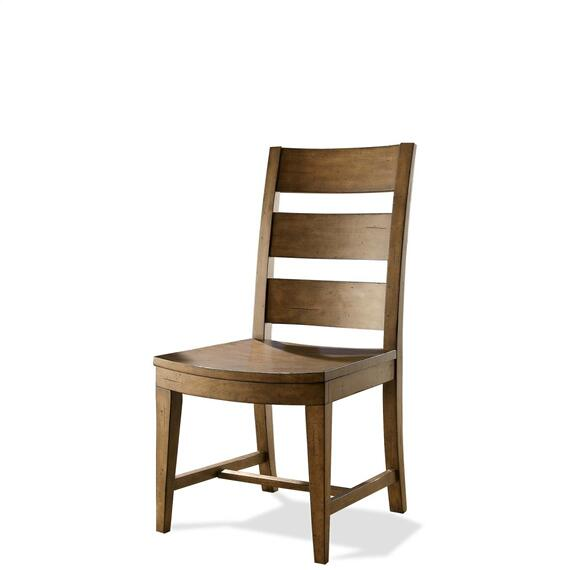 Riverside - Hawthorne - Wood Seat Side Chair - Barnwood Finish