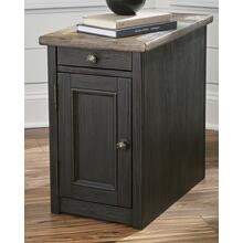 Tyler Creek Chair Side End Table Grayish Brown/Black
