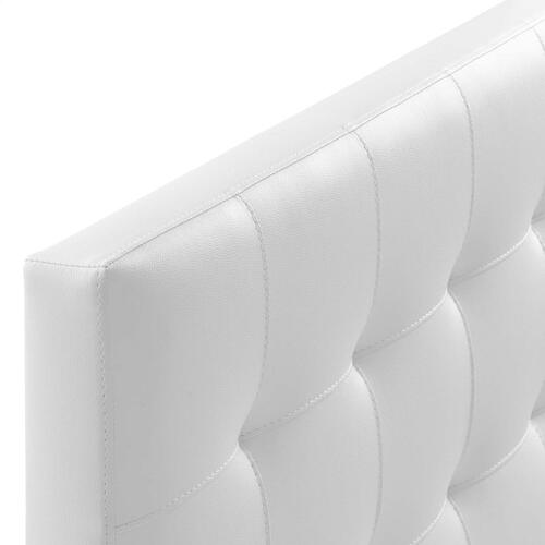 Modway - Lily King Upholstered Vinyl Headboard in White