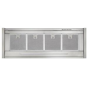 RIPORRE Built-in 34-Inch Brushed Stainless Steel Chimney Hood with External Blower Options