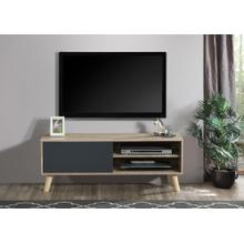 """See Details - 2032 NATURAL & GRAY Faux Wood TV Stand - 47"""" L"""