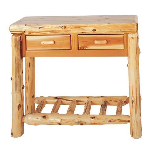 Two Drawer Sofa Table - Natural Cedar