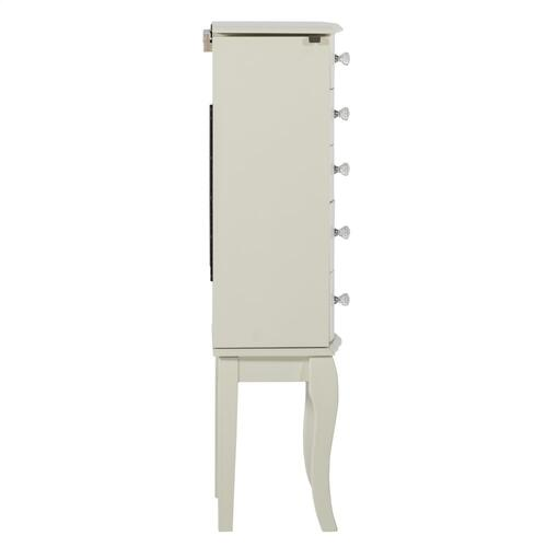 5-drawer Jewelry Armoire, White