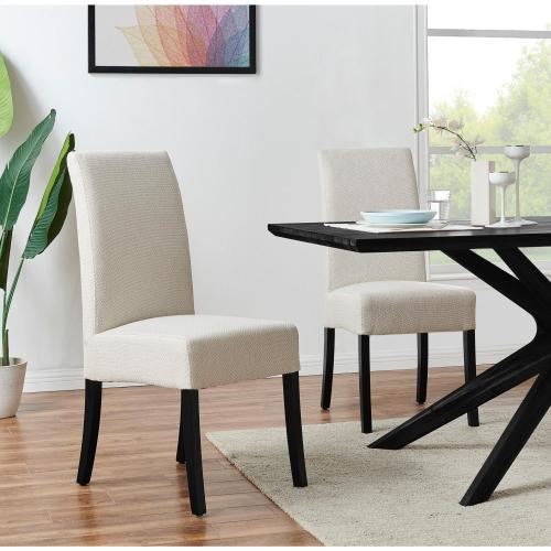 Valencia Fabric Dining Side Chair, Cardiff Cream