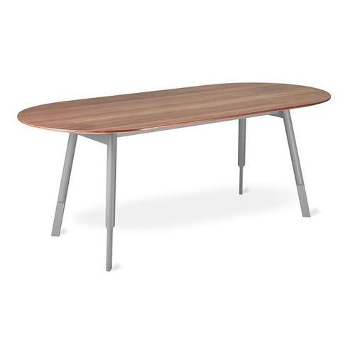 Bracket Dining Table - Oval Walnut