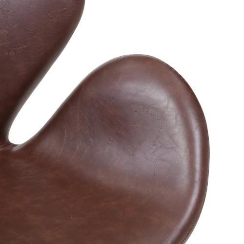 Beckett PU Swivel Chair Chrome Legs, Distressed Brown
