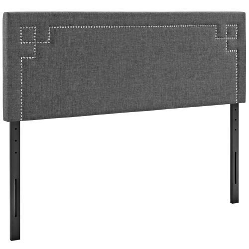Josie Full Upholstered Fabric Headboard in Gray