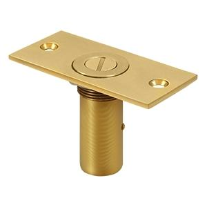 "Dust Proof Strike 3-1/2"" x 1-5/8"" w/Safety Lock - PVD Polished Brass"