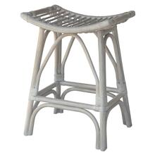 Imari Rattan Counter Stool, Gray White Washed