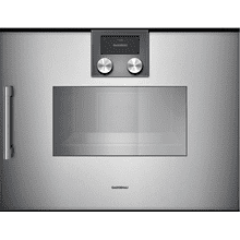 "200 series 200 series Combi-steam oven Full glass door in Gaggenau Metallic Width 24"" (60 cm) Right-hinged Controls on top"