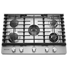 "30'' 5-Burner Gas Cooktop with Griddle - Stainless Steel ""CLEARANCE-IN BOX"""