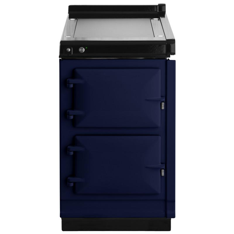"""AGAAga Hotcupboard 20"""" Electric Dark Blue With Stainless Steel Trim"""