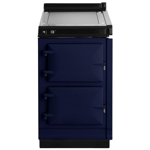 "AGA Hotcupboard 20"" Electric Dark Blue with Stainless Steel trim"