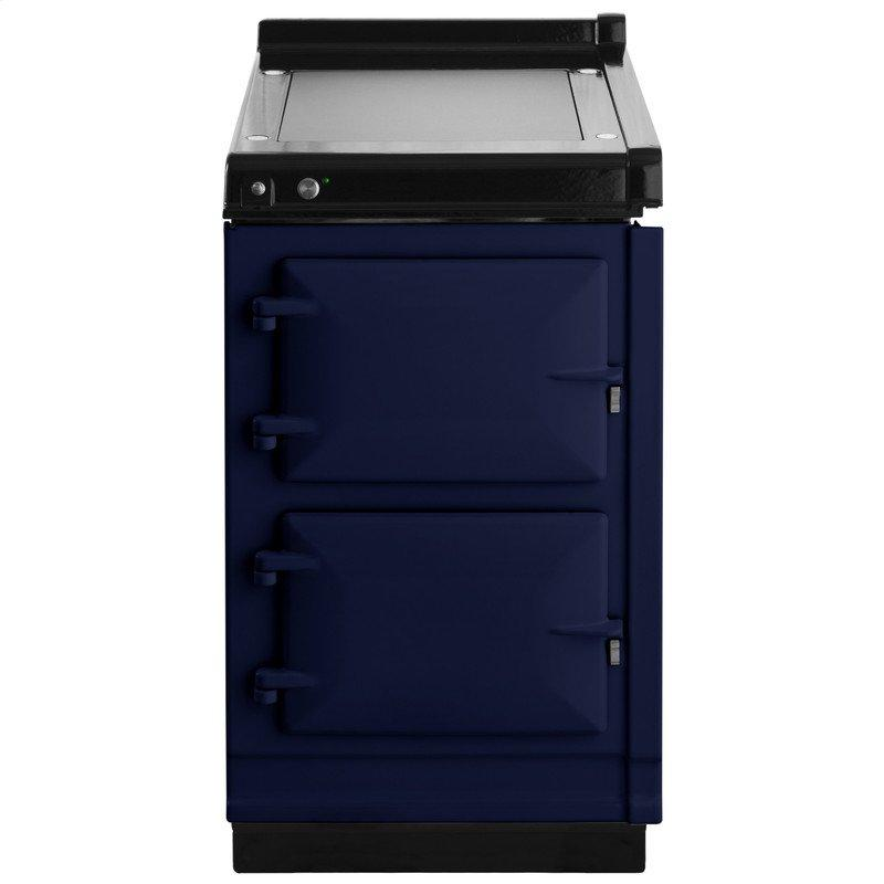 """AGA Hotcupboard 20"""" Electric Dark Blue with Stainless Steel trim"""