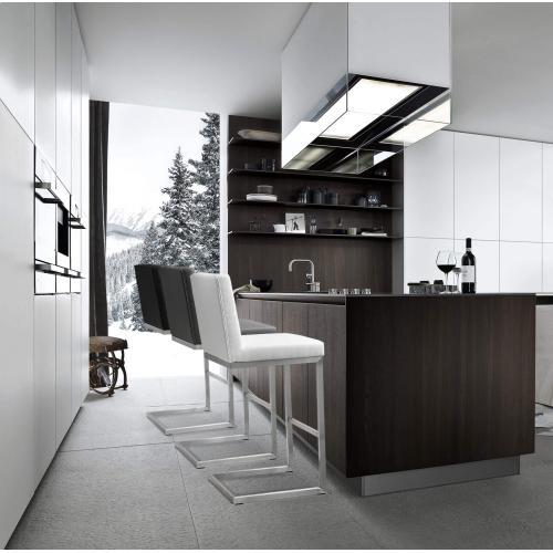 Tov Furniture - Helsinki Black Stainless Steel Barstool (Set of 2)