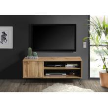 "See Details - 2028 OAK Faux Wood TV Stand - 47"" L"