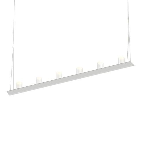 "Sonneman - A Way of Light - Votives LED Bar Pendant [Size=4', Color/Finish=Satin White, Shade Size=3"" height x 2.25"" diameter]"