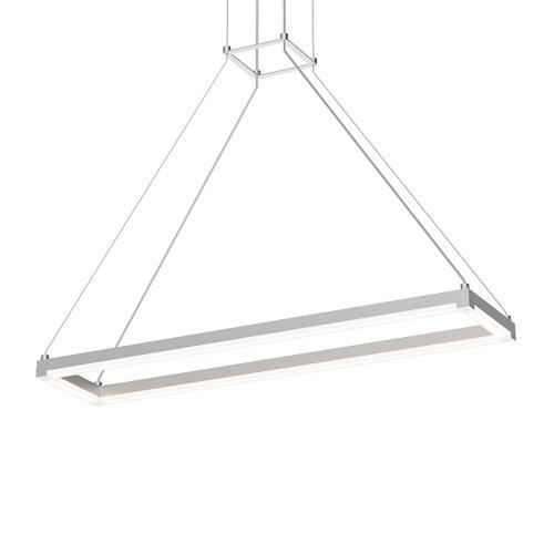 "Sonneman - A Way of Light - Stix Rectangle [Size=30"" x 6"", Color/Finish=Bright Satin Aluminum]"